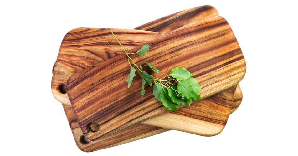 Three small cutting boards